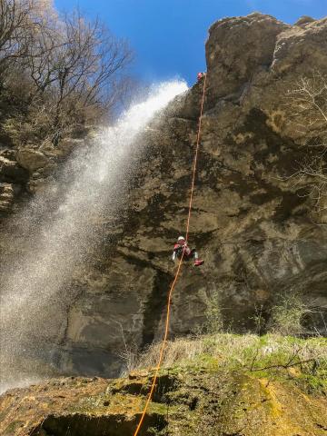 Canyoning jura du Grosdar intégral , la canyoning à Saint Claude